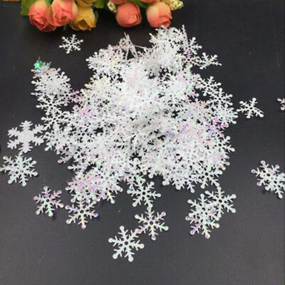 B9F5 DIY Hanging Ornaments Handcrafts Snowflake White 300pcs Party Decor