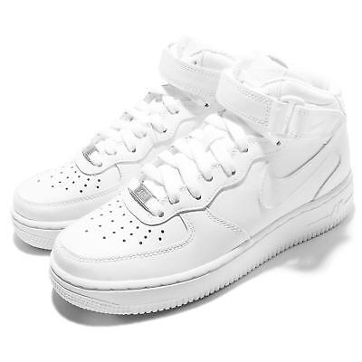 Wmns Air Force 1 Mid 07 LE White Womens Casual Shoes AF1 Sneaker 366731-100