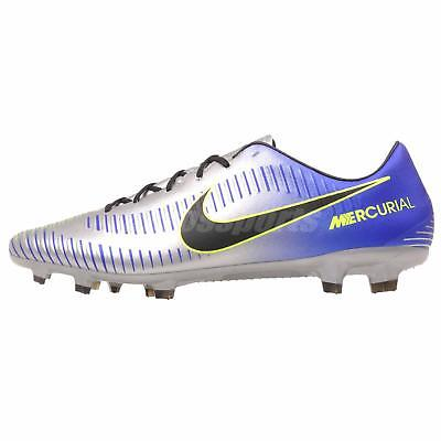 93b38fe2c Nike Mercurial Veloce III NJR FG Neymar Soccer Mens Shoes Cleats Blue  921505-407