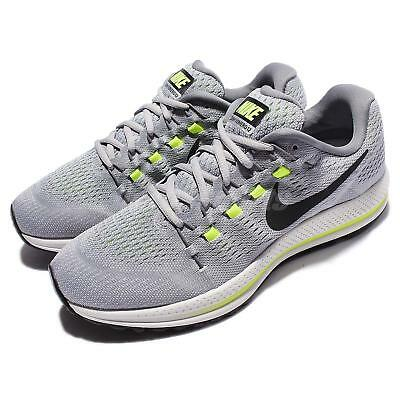 2ad56e685a5aa8 Nike Air Zoom Vomero 12 Grey Black Volt Men Running Shoes Sneakers 863762- 002