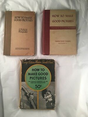 How to Make Good Pictures Photographer Vintage HC Book Lot of 3 by Eastman Kodak