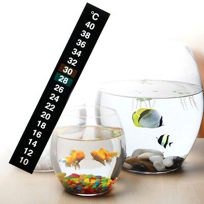 LCD Thermometer Adhesive Sticker Temperature Gauge Aquarium Window Fish Tank UK