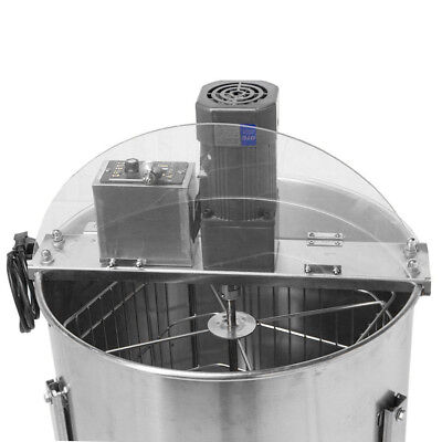 Electric Four Frame Stainless Steel Honey Extractor Beekeeping Beehive Tool NEW2