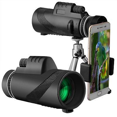 Monocular Telescope 40x60 High Power BAK4 Prism Waterproof with Tripod Camera