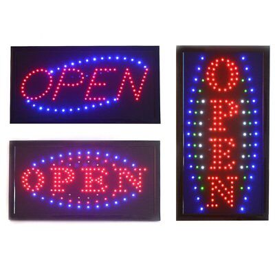 Bright  Open Sign Flashing Window Hanging Display Neon Light Shop Fitting