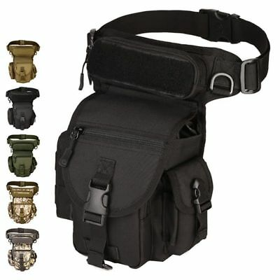 Tactical Waist Pack Drop Leg Bag Belt Military Pouch For Hiking Riding Outdoor