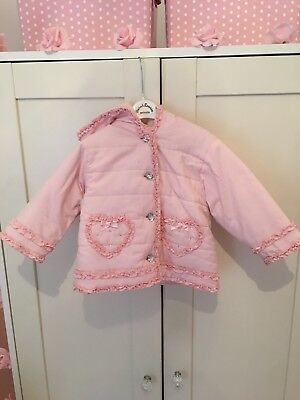 Dani By Sarah Louise Pink Coat, Age 12 Months