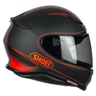 Shoei NXR Flagger TC1 Full Face Motorcycle Motorbike Helmet Red Black Sale