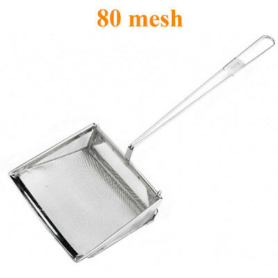 "Professional 8""/20cm Square Fat Oil Skimmer 80 Mesh Skimmer Chippy Fish & Chip"