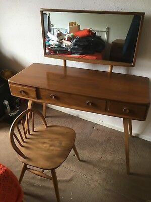 Ercol dressing table and stool  - original mid century.