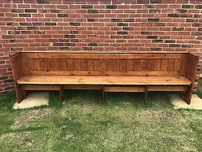 Beautiful Antique Wooden Church Pew, Vintage Bench 10 Feet Seat.