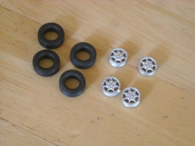 1/43rd scale Ford RS 7 spoke wheels by K&R Replicas