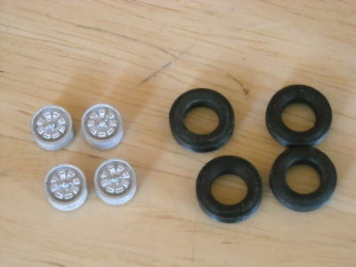 1/43 rd scale Cast TR8 'wedge' wheels pack of 4  K & R Replicas