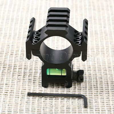 Hunting Scope Ring for Picatinny Rail Extended Tri-Rail Mount bubble Level 30mm