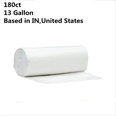 180ct Strong 13 Gallon Commercial Kitchen Trash Bag 13Gal Garbage Bag Yard Clear