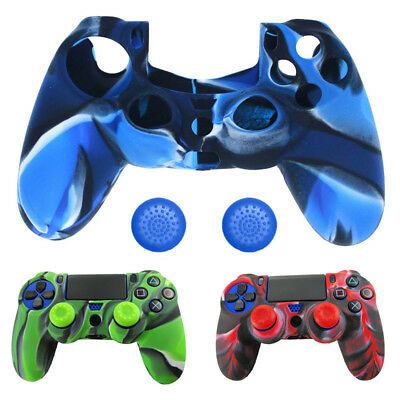 per PlayStation 4 (PS4) Joystick Silicone Grip Custodia cover skin + 2 cappuccio