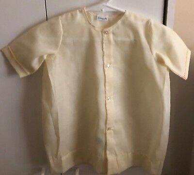 NWOT Vintage The Lullaby Set Size 0-3M Yelow Short Sleeve Long Gown