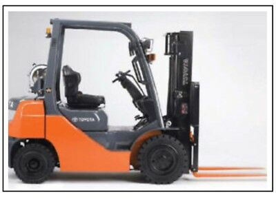 Toyota 5FG10-30 & 5FD10-30 Forklift Service / Repair Manual on CD