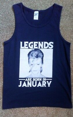 New. David Bowie T-Shirt. Legends Are Born In January. Size Small.