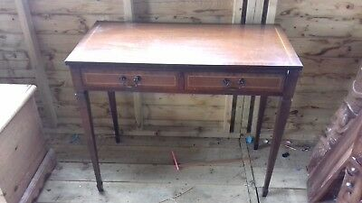 Antique hardwood side table