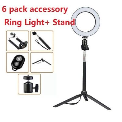 "8"" Dimmable LED Ring Light Photography Selfie Light Photo For Camera Smartphone"