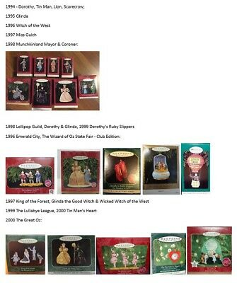 Wizard of Oz Hallmark Ornaments Collection 1994-2014 - Complete Lot 64 Boxed Orn
