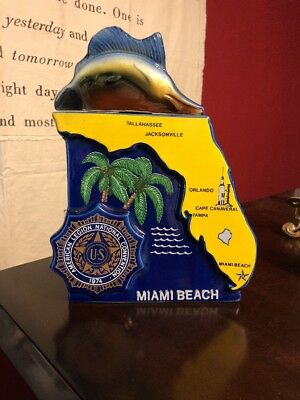 "1974 ""Miami Beach American Legion Convention"" Ezra Brooks Liquor decanter"