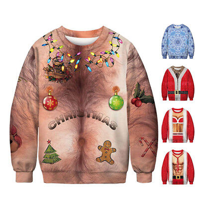 Mens Xmas Jumpers Christmas Sweater Pullover Novelty Classic Funny Xmas Gift