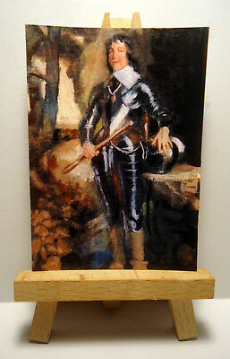James Hamilton ACEO Original PAINTING by Ray Dicken a Anthony Van Dyck