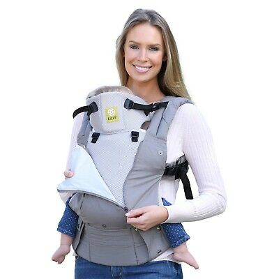 LILLE Baby 6 in 1 Complete All Seasons Breathable 3D Mesh GREY STONE Carrier
