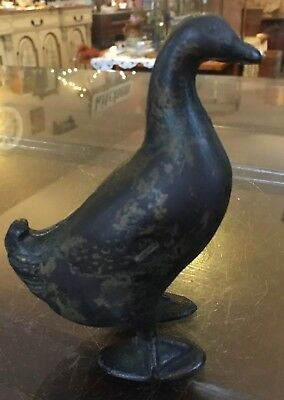 Original Early 1900s AC Williams Cast Iron Duck Bank Antique Penny Saver Vintage