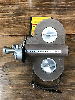 Vintage 70DR Bell & Howell 16mm Film Movie Camera with 2 Lenses and Grip (NR)