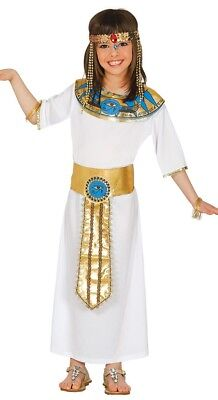 Girls Egyptian Queen Costume Childs Kids Cleopatra Fancy Dress Book Week Day