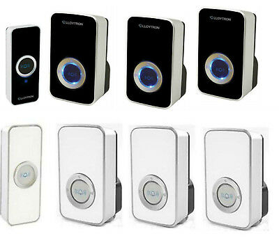 Lloytron Door Bell Mains Plug In Portable Twin Triple Wireless Cordless Chime