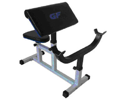 Deluxe Preacher Arm Curl Heavy Duty Weight Lifting Bench, deluxe upholstery