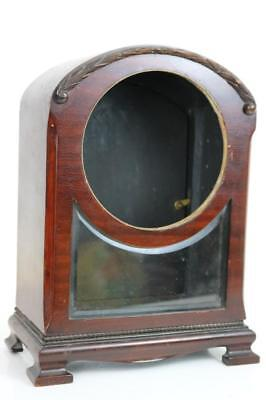 GOOD QUALITY MAHOGANY CLOCK CASE with BEVELLED GLASS WINDOW Victorian
