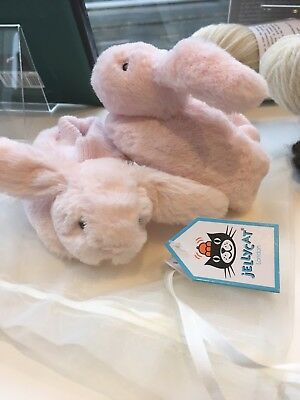 New Jellycat Bashful Bunny Baby Booties Pink!