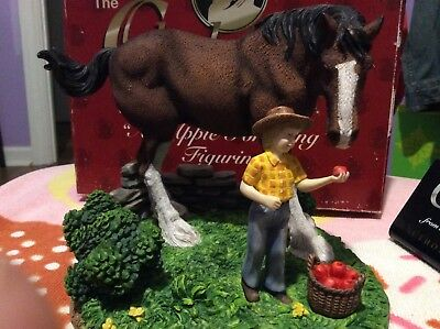 """Anheuser Busch CLYD5 Clydesdale """"An Apple for King"""" Figurine"""
