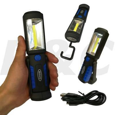 RING LED Inspection Work Light Rechargeable COB Lamp Torch Magnet & Hook