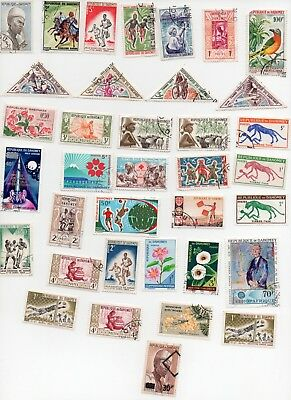 DAHOMEY Stamps 34 All Different and Off Paper