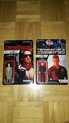 Funko ReAction Figur - T1000 Officer - Terminator 2 - Kyle Reese - Terminator 1