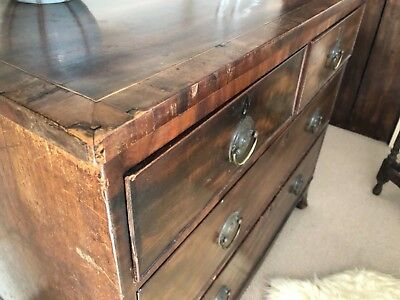 Antique mahogany chest of drawers with attractive brass handles