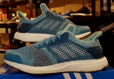Adidas Ultra Boost St Trainers Aqua Running Shoes Size 7.5 Eur 41 Worn Once Mint