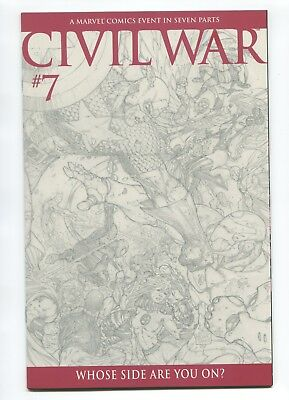2006 Marvel Civil War #7 Michael Turner 1:75 Sketch Variant Near Mint+ 9.6 D3