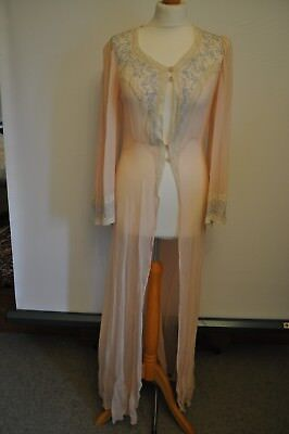 Vintage Ladies Negligee Silk HARRODS Buenos Aires 1930s Colour Pasel Pink