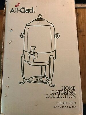 All-Clad Stainless Steel 6 Quart Coffee Urn Catering Warmer Server Home