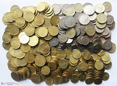 Great Britain 24.70 British Pounds And Europe 45.50 Euro In Coins.