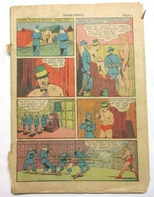 May 1940 Jungle Comics #5 Golden Age Rare Missing Cover Vintage Rare