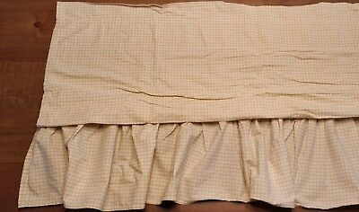 "Disney Classic Pooh Collection Tan/Beige Gingham Window Valance 20""x78"""