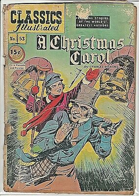 Classics Illustrated  #53 ~A Christmas Carol~ 1948 15c ~GOLDEN AGE~ GD ~ Charity